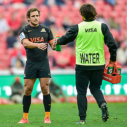 Johannesburg, SOUTH AFRICA, 21, MAY 2016 - during the Super Rugby match between Emirates Lions vs Jaguares ,Emirates Airlines Park,Johannesburg<br /> Nicolás Sánchez of the Jaguares. <br /> South Africa. (Photographer Christiaan Kotze ) -- (Steve Haag Sports) <br /> <br /> Images for social media must have consent from Steve Haag