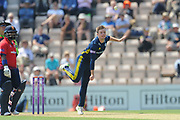 Mason Crane of Hampshire bowling during the Royal London One Day Cup match between Hampshire County Cricket Club and Essex County Cricket Club at the Ageas Bowl, Southampton, United Kingdom on 23 May 2018. Picture by Dave Vokes.