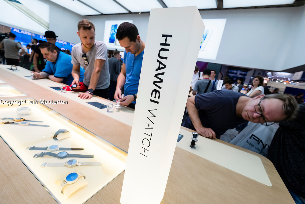Huawei watches on Display at 2016  IFA (Internationale Funkausstellung Berlin), Berlin, Germany