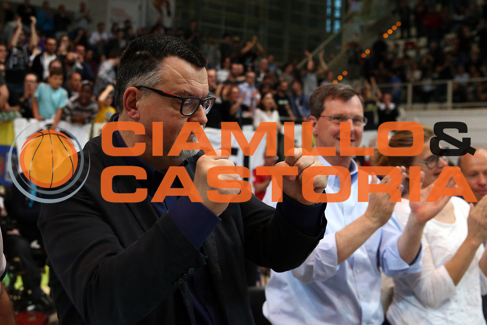 Luigi Longhi Presidente Trento<br /> Dolomiti Energia Trentino vs Germani Basket Brescia<br /> Lega Basket Serie A 2016/2017<br /> Trento, 23/04/2017<br /> Foto Ciamillo-Castoria/A. Gilardi
