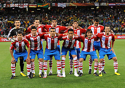 Football - soccer: FIFA World Cup South Africa 2010, Italy (ITA) - Paraguay (PRY), LA FORMAZIONE DELPARAGUAY