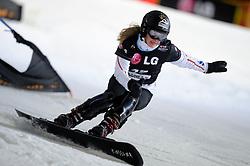 10-10-2010 SNOWBOARDEN: LG FIS WORLDCUP: LANDGRAAF<br /> First World Cup parallel slalom of the season / DE FAUCOMPRET Camille FRA<br /> ©2010-WWW.FOTOHOOGENDOORN.NL