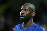 Chelsea defender Antonio Rüdiger (2) during the Champions League match between Chelsea and Bayern Munich at Stamford Bridge, London, England on 25 February 2020.