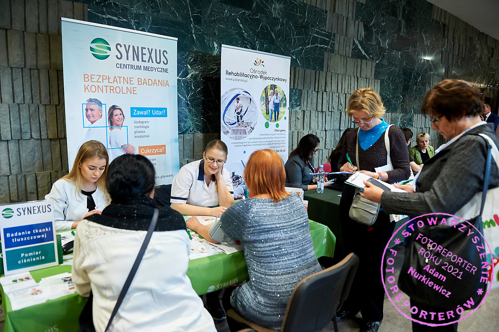 Warsaw, Poland - 2017 April 07: The Day of Health - science conference in the National Library on April 07, 2017 in Warsaw, Poland.<br /> <br /> Mandatory credit:<br /> Photo by © © Adam Nurkiewicz / Mediasport / Mediasport<br /> <br /> Picture also available in RAW (NEF) or TIFF format on special request.<br /> <br /> Any editorial, commercial or promotional use requires written permission from the author of image.<br /> <br /> Adam Nurkiewicz declares that he has no rights to the image of people at the photographs of his authorship.