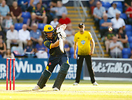 Glamorgan's Craig Meschede plays the ball<br /> <br /> Photographer Simon King/Replay Images<br /> <br /> Vitality Blast T20 - Round 8 - Glamorgan v Gloucestershire - Friday 3rd August 2018 - Sophia Gardens - Cardiff<br /> <br /> World Copyright © Replay Images . All rights reserved. info@replayimages.co.uk - http://replayimages.co.uk