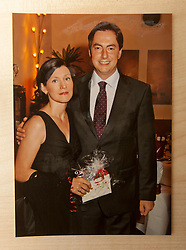 Pic of David and his wife Dunja McAllister..COLLECT PICS from the half-Scottish Prime Minister David McAllister of Lower Saxony..©Michael Schofield.