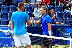 Sam Groth of Australia shakes hands after defeating Liam Broady of Great Britain  - Mandatory by-line: Matt McNulty/JMP - 31/05/2016 - TENNIS - Northern Tennis Club - Manchester, United Kingdom - AEGON Manchester Trophy
