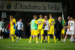 NK Domzale players during football match between NK Domzale and FC Lusitanos Andorra in second leg of UEFA Europa league qualifications on July 7, 2016 in Andorra la Vella, Andorra. Photo by Ziga Zupan / Sportida