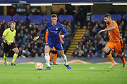 Ross Barkley of Chelsea (8) dribbling during the Champions League group stage match between Chelsea and PAOK Salonica at Stamford Bridge, London, England on 29 November 2018.