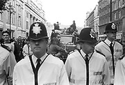 Police presence, 3rd Criminal Justice March.London,9th of October, 1994