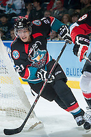 KELOWNA, CANADA - OCTOBER 19: Henrik Nyberg #21 of the Kelowna Rockets skates on the ice against the Prince George Cougars on October 19, 2013 at Prospera Place in Kelowna, British Columbia, Canada.   (Photo by Marissa Baecker/Shoot the Breeze)  ***  Local Caption  ***