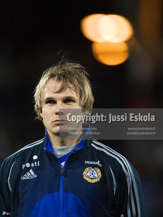 Markus Heikkinen.&amp;#xA;Suomi-Armenia, Finnair Stadium, Helsinki 15.11.2006. EM-karsintaa.&amp;#xA;Photo: Jussi Eskola<br />