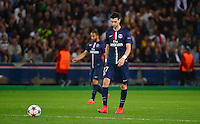 Deception Javier PASTORE - 15.04.2015 - Paris Saint Germain / Barcelone - 1/4Finale Aller Champions League<br />