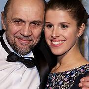 NLD/Amsterdam/20150119 - Premiere film Homies, Leonid Vlassov en dochter