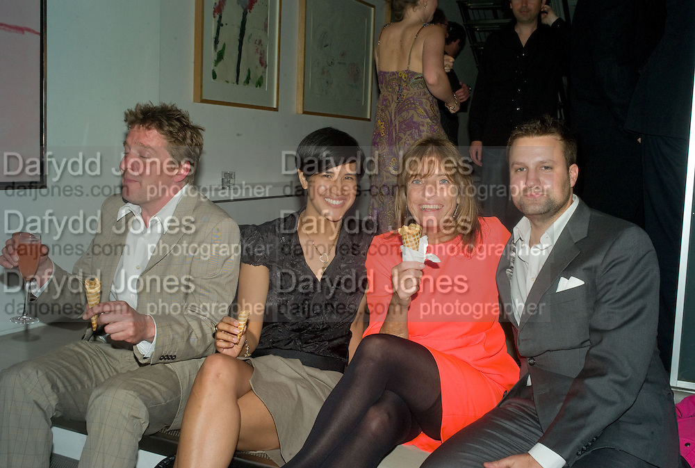 MICHAEL ? VIRGINIA RUSGTIQUE, LADY ROGERS AND FILIPPO PETENI,  These Foolish Things, charity evening hosted by Sir Richard and Lady Rogers. Chelsea. London. 7 May 2008.  *** Local Caption *** -DO NOT ARCHIVE-© Copyright Photograph by Dafydd Jones. 248 Clapham Rd. London SW9 0PZ. Tel 0207 820 0771. www.dafjones.com.