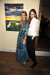 Left to right, Artist SARAH-JANE BOLER and MARY FELLOWES at an exhibition of Sarah-Jane Boler's paintings entitled 'Life on The Farm' held at The Troubadour, 265 Old Brompton Road, London on 27th November 2008.