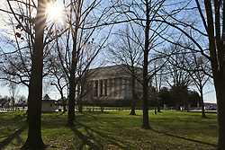 THEMENBILD - Blick auf das Lincoln Memorial vom Vietnam Veterans Memorial aus. Reisebericht, aufgenommen am 12. Jannuar 2016 in Washington D.C. // View of the Lincoln Memorial Vietnam Veterans Memorial from. Travelogue, Recorded January 12, 2016 in Washington DC. EXPA Pictures © 2016, PhotoCredit: EXPA/ Eibner-Pressefoto/ Hundt<br /> <br /> *****ATTENTION - OUT of GER*****
