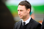 Notts County manager Jamie Fullarton before the Sky Bet League 2 match between Plymouth Argyle and Notts County at Home Park, Plymouth, England on 27 February 2016. Photo by Graham Hunt.