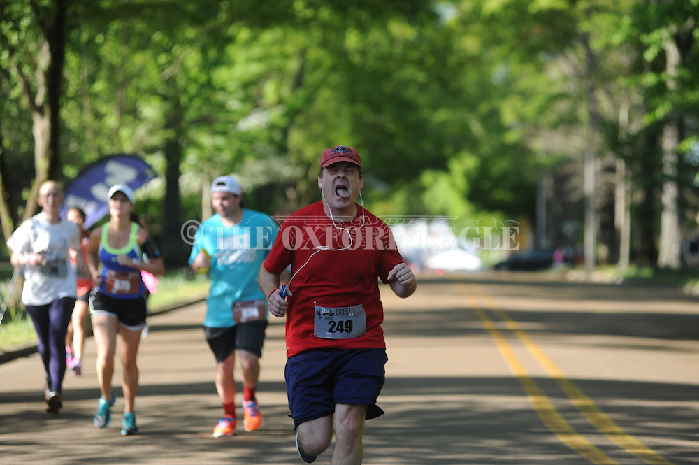 Steven G. Watson runs in The Double Decker 10K run in Oxford, Miss. on Saturday, April 26, 2014.