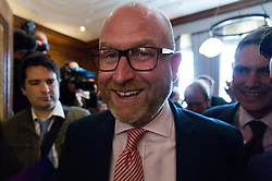 © Licensed to London News Pictures.24/04/2017.London, UK. UKIP party leader PAUL NUTTALL makes a part policy announcement at the Marriott County Hall in Westminster, London. Paul Nuttall recently announced plans to ban the burkha in the UKIP 2017 general election manifesto.Photo credit: Ray Tang/LNP