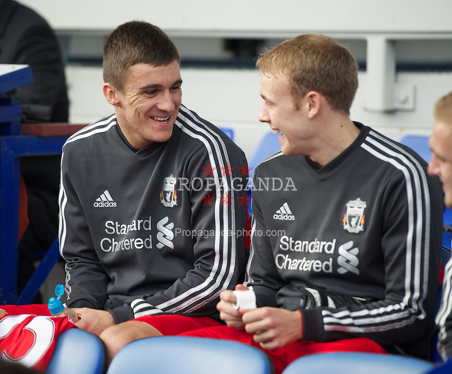 LIVERPOOL, ENGLAND - Tuesday, March 6, 2012: Liverpool's substitute Adam Morgan during the FA Premier Reserve League match against Everton at Goodison Park. (Pic by David Rawcliffe/Propaganda)
