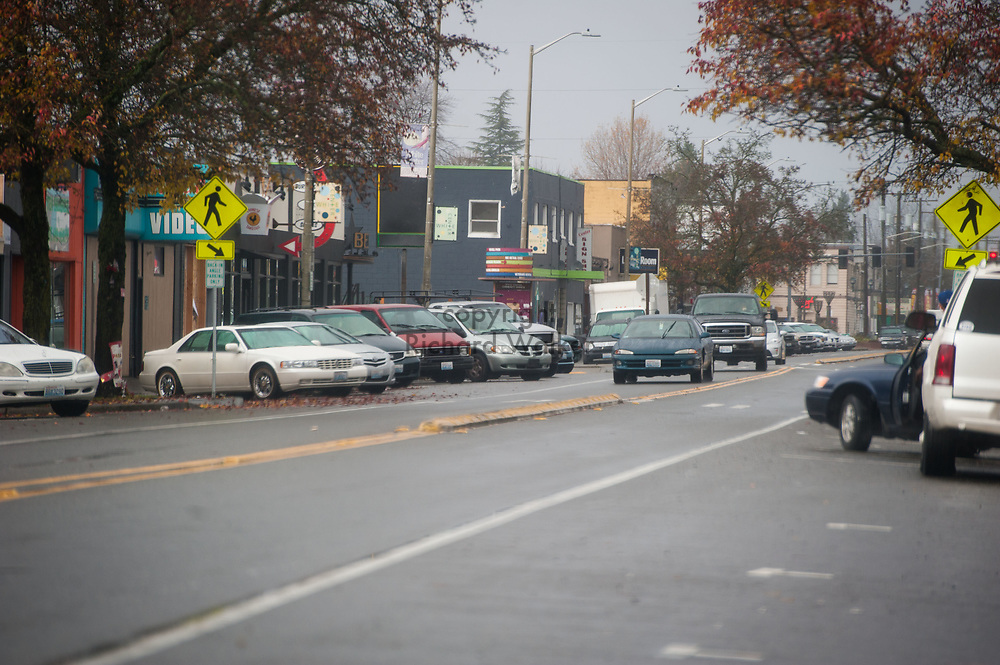 2017 NOVEMBER 20 - 16th Ave SW in White Center, Seattle, WA, USA. By Richard Walker