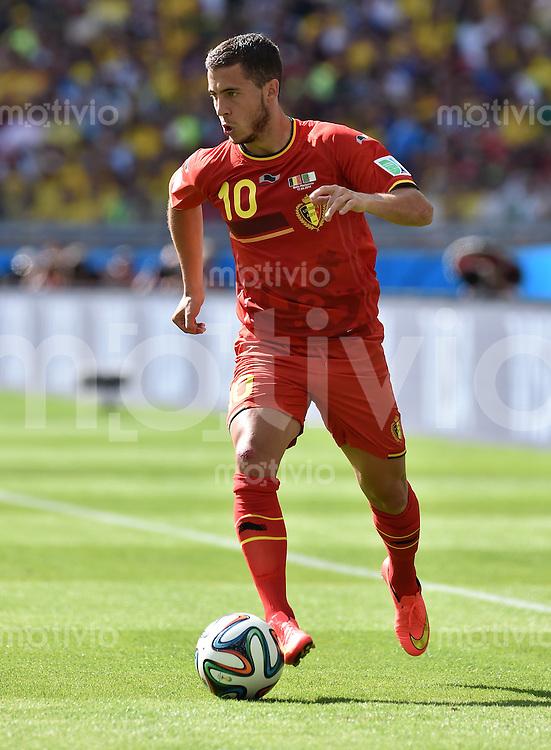 FUSSBALL WM 2014  VORRUNDE    Gruppe H     Belgien - Algerien                       17.06.2014 Eden Hazard (Belgien) am Balll