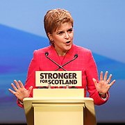 SNP Leader Nicola Sturgeon speaking to the conference.