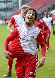 13-12-2015 NED: FC Utrecht - AFC Ajax, Utrecht<br /> Utrecht verslaat Ajax opnieuw in de Galgenwaard 1-0 / Yassin Ayoub #6 scoort de winnende treffer en neemt de wedstrijdbal mee.
