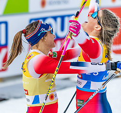 21.02.2019, Langlauf Arena, Seefeld, AUT, FIS Weltmeisterschaften Ski Nordisch, Seefeld 2019, Langlauf, Damen, Sprint, im Bild v.l. Maiken Caspersen Falla (NOR), Mari Eide (NOR) // f.l. Maiken Caspersen Falla of Norway and Mari Eide of Norway during the ladie's Sprint competition of the FIS Nordic Ski World Championships 2019. Langlauf Arena in Seefeld, Austria on 2019/02/21. EXPA Pictures © 2019, PhotoCredit: EXPA/ Stefan Adelsberger