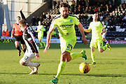 Hibernian defender Darren McGregor (24) on the ball during the Ladbrokes Scottish Premiership match between St Mirren and Hibernian at the Paisley 2021 Stadium, St Mirren, Scotland on 27 January 2019.