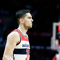 09 December 2017: Washington Wizards guard Tomas Satoransky (31) rests during the LA Clippers 113-112 victory over the Washington Wizards, at the Staples Center, Los Angeles, California, USA.