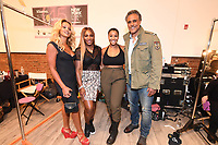 Serena Williams and Rick Fox backstage at the Klarna STYLE360 NYFW Hosts S by Serena Fashion Show
