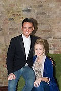 19/04/2012. London, UK. Former member of pop-rock bands Busted and Son of Dork James Bourne and writer and composer Elliot Davis introduce the cast of their original British musical LOSERVILLE. Premiering at the West Yorkshire Playhouse, Leeds. Picture shows: Eliza Hope Bennett (Holly) and Gareth gates (Eddie).