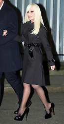 Donatella Versace arriving at a reception hosted by Samantha Cameron at 10 Downing Street in London, at the start of London Fashion Week, Friday, 15th February 2013.  Photo by: i-Images