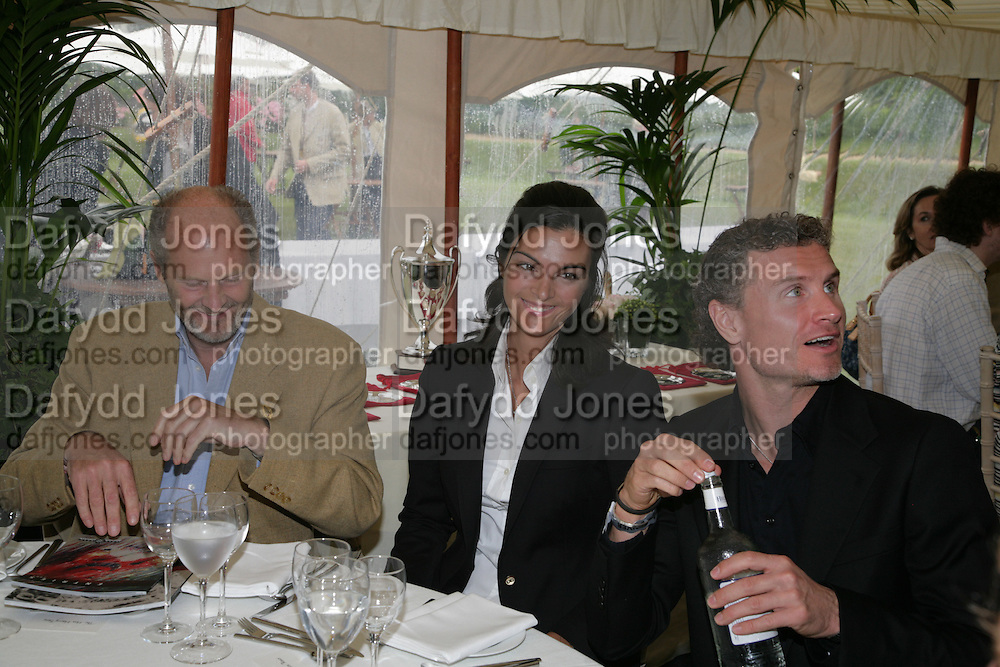 DAVID COULTHARD AND KAREN MINIER, Cartier Style et Luxe lunch. Goodwood.  24 June 2007.  -DO NOT ARCHIVE-© Copyright Photograph by Dafydd Jones. 248 Clapham Rd. London SW9 0PZ. Tel 0207 820 0771. www.dafjones.com.