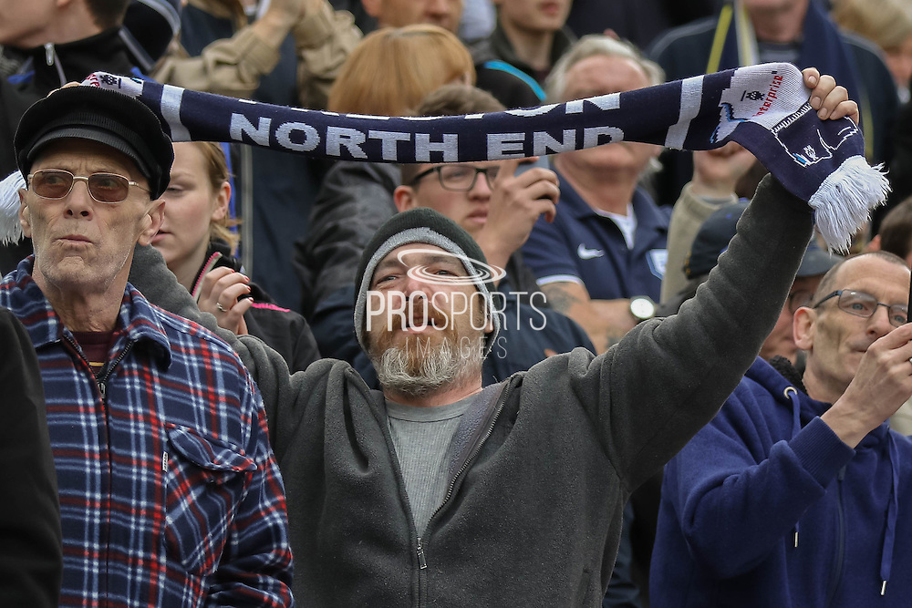 Preston fans during the Sky Bet League 1 Play Off Second Leg match between Preston North End and Chesterfield at Deepdale, Preston, England on 10 May 2015. Photo by Simon Davies.