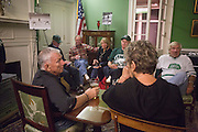 Hockey alumni of the 1960s team gather at Konneker Alumni house after the OU vs. Kent State hockey game on September 30, 2016.