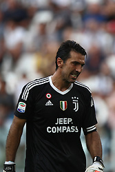August 19, 2017 - Turin, Italy - Buffon shows dejection during the Serie A football match n.1 JUVENTUS - CAGLIARI on 19/08/2017 at the Allianz Stadium in Turin, Italy. (Credit Image: © Matteo Bottanelli/NurPhoto via ZUMA Press)