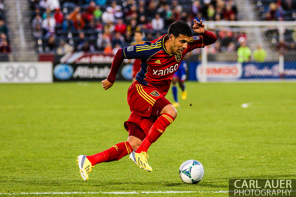 April 6th, 2013 - Real Salt Lake midfielder Javier Morales (11) makes an attack in second half action of the MLS match between Real Salt Lake and the Colorado Rapids at Dick's Sporting Goods Park in Commerce City, CO