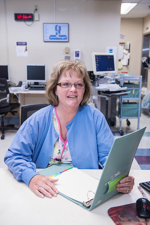 Charge Nurse Connie Wilson, RN, photographed Wednesday, May 20, 2015, at Baptist Health in Richmond, Ky. (Photo by Brian Bohannon/Videobred for Baptist Health)