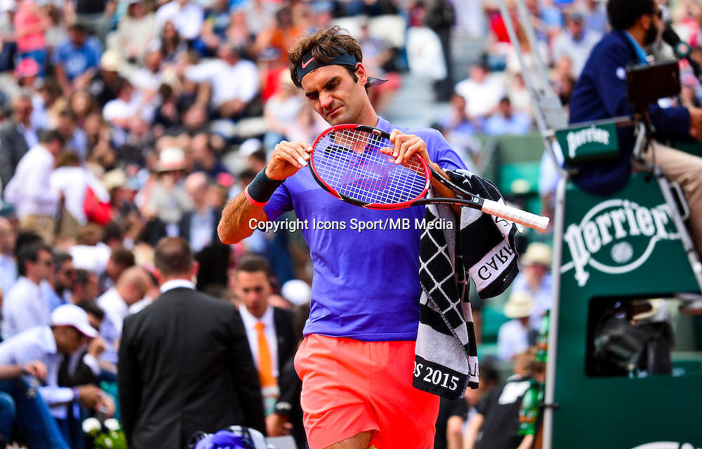 Roger FEDERER - 02.06.2015 - Jour 10 - Roland Garros 2015<br /> Photo : David Winter / Icon Sport