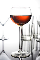 Glass of wine - studio shot
