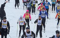 06-03-2016 SWE: Vasaloppet Challenge BvdGF day 7, Sälen<br /> Vandaag een rustig dagje, 90 km langlaufen van Sälen naar Mora in bizarre omstandigheden / Bas, Frank en Irene