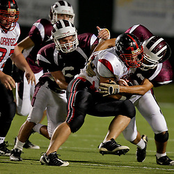 02 October 2009:  During a high school football game between the St. Thomas Falcons and the Loranger Wolves at Strawberry Field in Hammond, Louisiana.