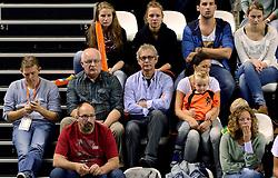 06-10-2013 VOLLEYBAL: WK KWALIFICATIE MANNEN NEDERLAND - ROEMENIE: ALMERE<br /> Nederland WINT met 3-0 van Roemenie en is daarmee groepswinnaar en plaatst zich voor de volgende ronde / Support publiek Oranje met oa Evert van Garderen en Arjen Boonstoppel<br /> ©2013-FotoHoogendoorn.nl