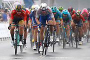 Arrival sprint Fabio Jakobsen (NED - QuickStep - Floors) winner, Dylan Groenewegen (NED - Team LottoNL - Jumbo) during the Tour of Guangxi 2018, Stage 3, Nanning - Nanning (125,4 km) on October 18, 2018 in Nanning, China - photo Luca Bettini / BettiniPhoto / ProSportsImages / DPPI