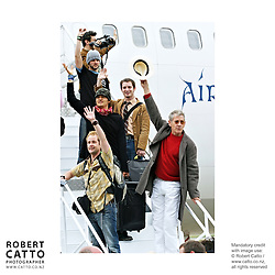 Lord Of The Rings cast leaving Wellington, after the World Premiere, New Zealand