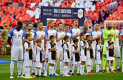 September 1, 2017 - Harrison, NJ, USA - Harrison, N.J. - Friday September 01, 2017:   USMNT starting eleven during a 2017 FIFA World Cup Qualifying (WCQ) round match between the men's national teams of the United States (USA) and Costa Rica (CRC) at Red Bull Arena. (Credit Image: © Howard Smith/ISIPhotos via ZUMA Wire)