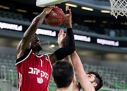 Amare Stoudemire of Hapoel vs Nikola Jankovic #12 of KK Union Olimpija during basketball match between KK Union Olimpija Ljubljana (SLO) and Hapoel Jerusalem (ISR) in Round #4 of 7Days EuroCup 2016/17, on October 26, 2016 in Arena Stozice, Ljubljana, Slovenia. Photo by Vid Ponikvar / Sportida